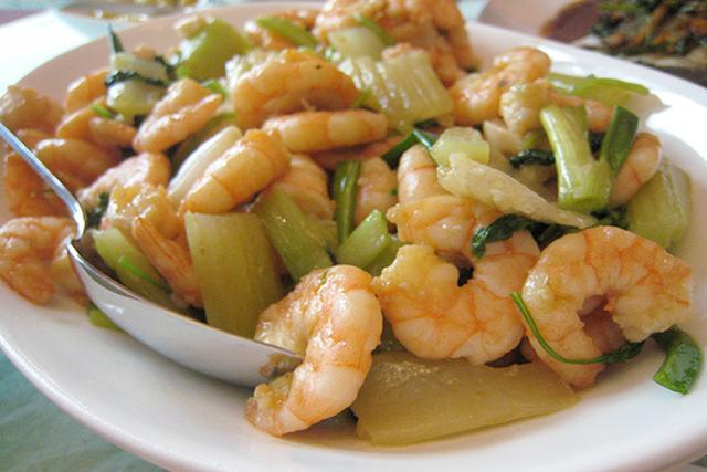 Stir-Fried Prawns and Celery | Asia Society