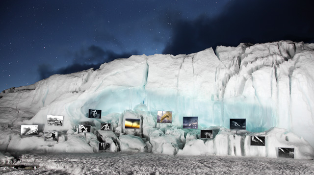 David Breashears, Evening Ice Gallery, Khumbu Glacier, Mount Everest, 2012. Courtesy of GlacierWorks