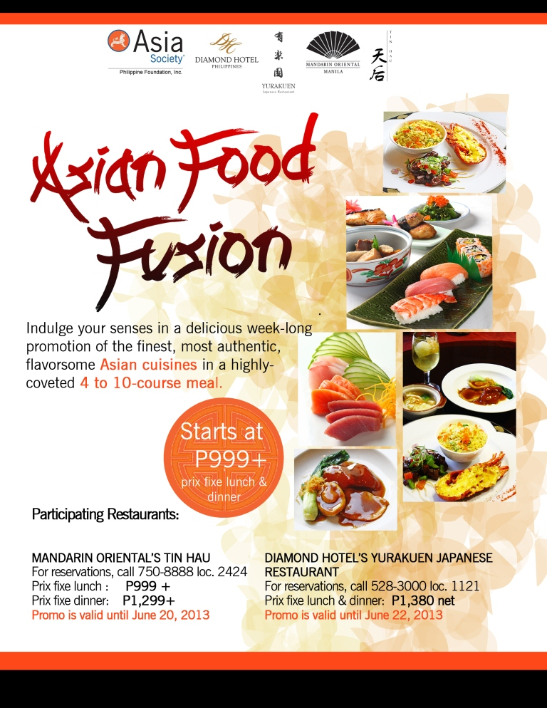 Asian food fusion asia society for Asia asian cuisine menu