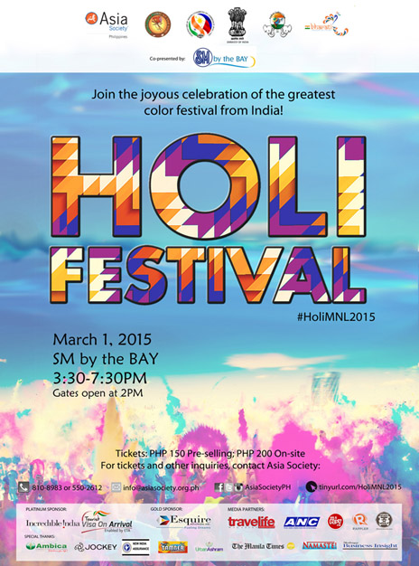 Holy Festivals 2015 Holi Festival on March 1 at sm