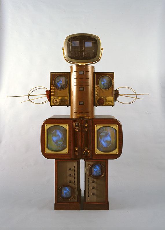 york exhibitions june paik becoming robot