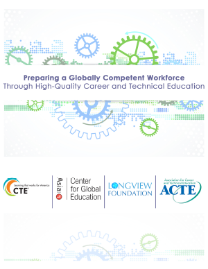 Preparing a Globally Competent Workforce Through High-Quality Career and Technical Education (Cover)