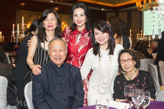 (L to R) Gina Chu, Liu Guosong, Maggie Tsai, Lynn Hsieh, Mo-Hua Lee Liu at Asia Society's second annual Art Gala on May 12, 2014. (Asia Society Hong Kong Center)