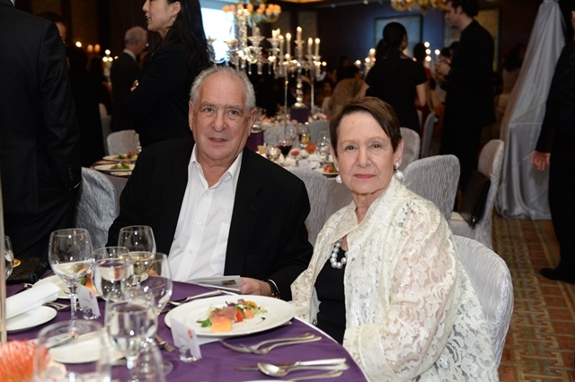 (L to R) Richard Elman and Ruth Newman at Asia Society's second annual Art Gala on May 12, 2014. (Asia Society Hong Kong Center)