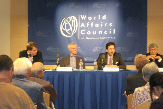 The panel discussion at the World Affairs Council in San Francisco on Oct. 5, 2009. (Asia Society Northern California)