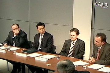L to R: Daniel Glaser, John Park, John Delury, and Michael Kulma at the Asia Society New York on Nov. 3, 2009.