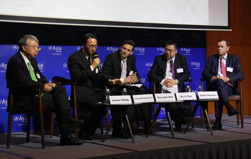 Morning panel discussion at Asia Society Hong Kong Center on September 22, 2014. (ASHK)