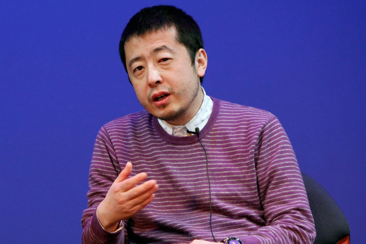Director Jia Zhangke discusses the aesthetic underlying his films at Asia Society New York on Mar. 6, 2010 (10 min., 16 sec.).(Photo: Suzanna Finley/Asia Society)