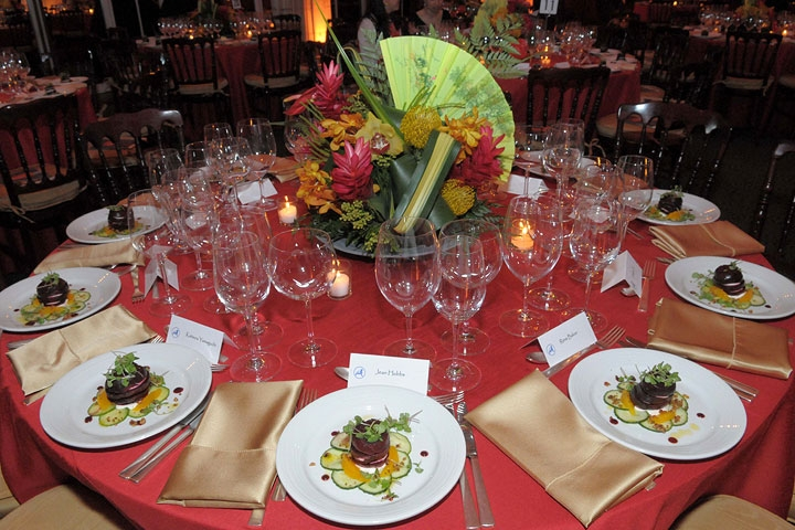 An elegant dinner at Guastavino's, overseen by Chef Michael Bao Huynh, was one highlight of the evening. (Elsa Ruiz/Asia Society)