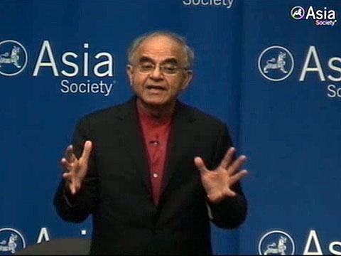 Gurcharan Das addressing the Asia Society in New York on September 30, 2010.