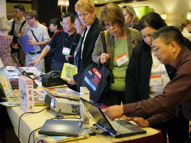 Educators meet with publishers at the National Chinese Language Conference