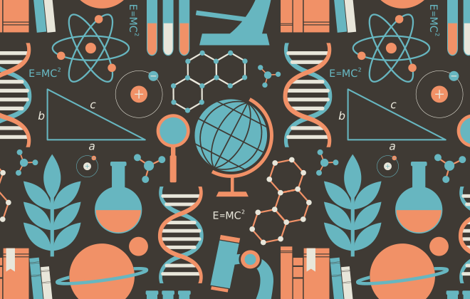 Science graphic. (starry_eyed_girl/istockphoto)