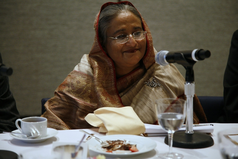 Bangladeshi Prime Minister Sheikh Hasina in New York City on September 22, 2010.