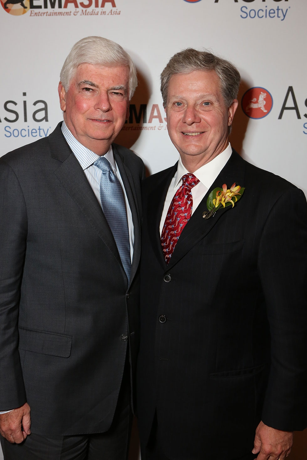 From left, Christopher Dodd, Chairman and CEO, Motion Picture Association of America and Thomas McLain, Chair, Asia Society Southern California pose during the 2013 Asia Society U.S.-China Film Summit and Gala held at the Millennium Biltmore Hotel on Tuesday, November 5, 2013, in Los Angeles, Calif. (Photo by Ryan Miller/Capture Imaging)