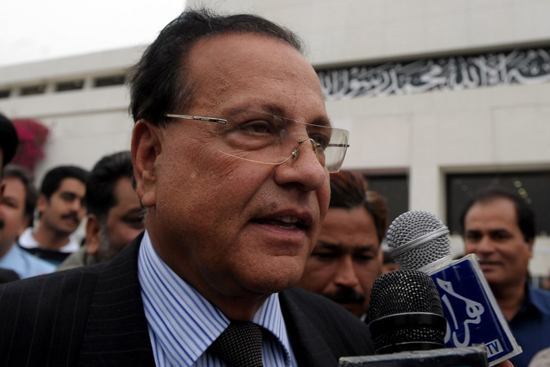 Salman Taseer, governor of Pakistan's Punjab province, speaks to the media in Islamabad on March 28, 2009. Taseer was assassinated January 4, 2011 by one of his bodyguards. (Farooq Naeem /AFP/Getty Images)