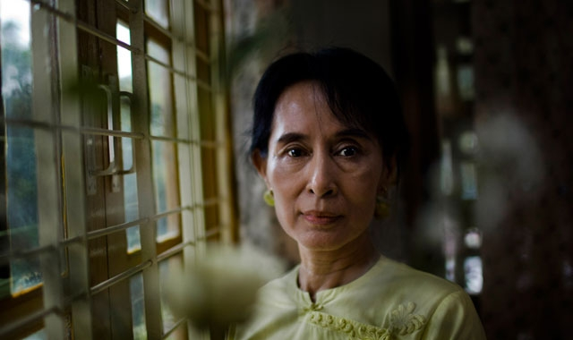 Burma/Myanmar democracy icon Aung San Suu Kyi poses for a portrait at the National League for Democracy (NLD) headquarters in Yangon on December 8, 2010 in Yangon, Myanmar. (Drn /Getty Images)