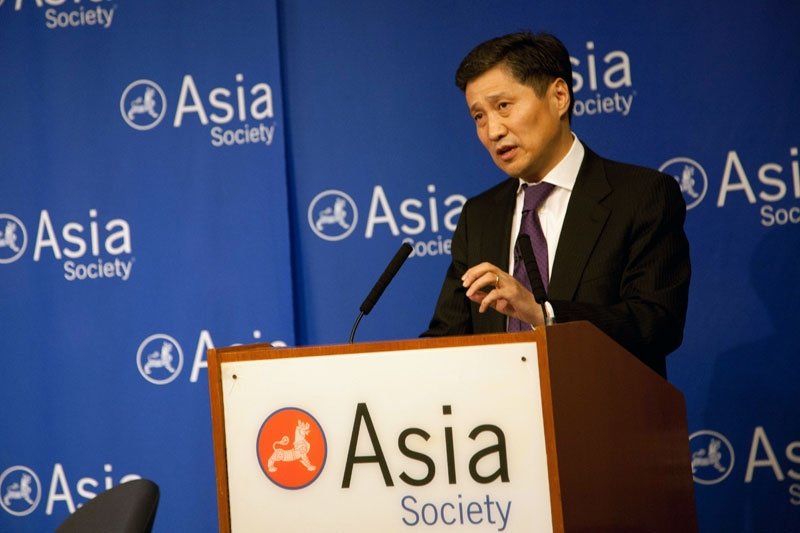Mongolian Prime Minister Batbold Sukhbaatar at Asia Society New York on Oct. 28, 2011. (Anthony Trujillo)
