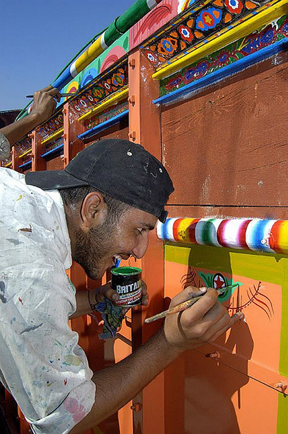 A fully decorated truck may take up to 10 weeks to be completed. (Peter Grant)