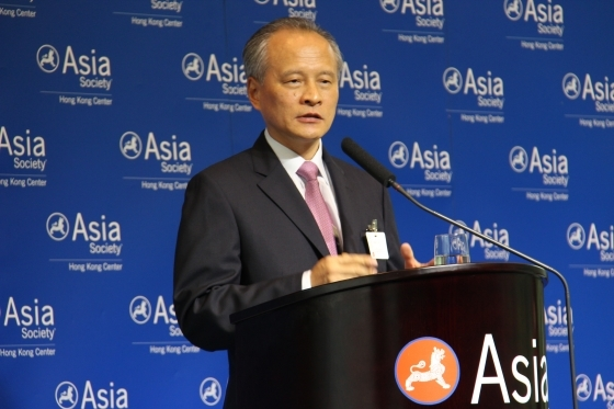 China's Vice Minister of Foreign Affairs Cui Tiankai in Hong Kong on July 5, 2012. (Asia Society Hong Kong Center)