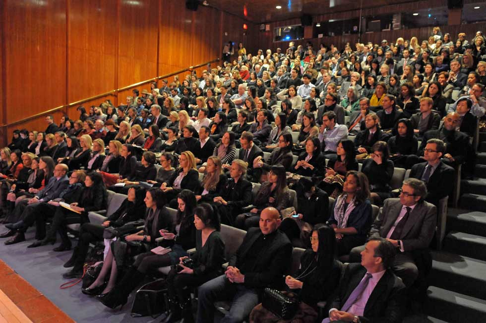 A sold out house at Asia Society New York for Maureen Chiquet's talk.. (Elsa Ruiz)