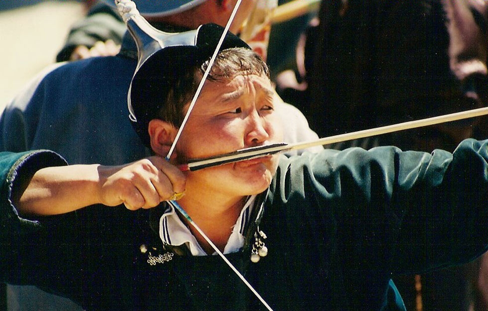 Archery is also one of the main events during the Naadam festival. (Mark Heard/Flickr)