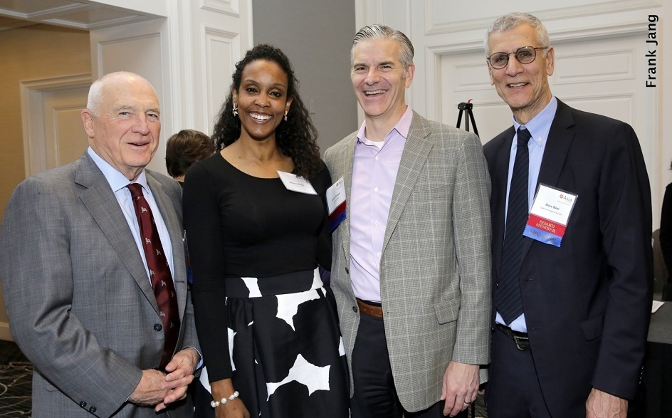 (From left to right) ASNC Advisory Board Co-Chairman, Jack Wadsworth; Allison Binns, Chevron; Advisory Board Member, Chris Cooper; and Advisory Board Member, Stephen Beal (Frank Jang Asia Society)