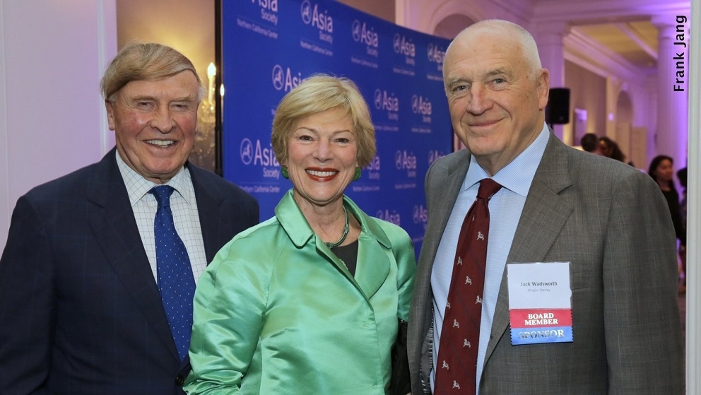 ASNC Advisory Board Member, Richard Kramlich (left); Pamela Kramlich (middle); and ASNC Advisory Board Co-Chairman, Jack Wadsworth (Frank Jang Asia Society)