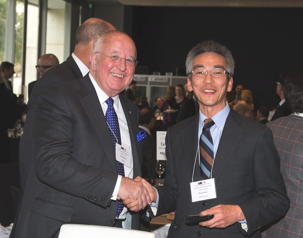 Sam Walsh AO, Chief Executive Officer, Rio Tinto with Masami Nitta, Managing Director, IHI Engineering Australia. (Irene Dowdy)
