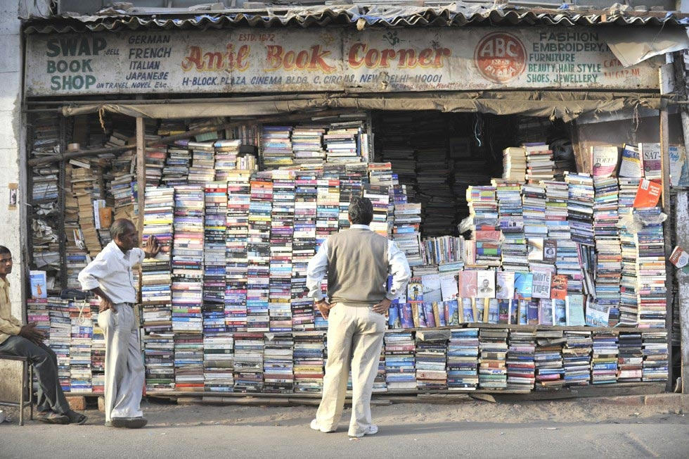 A used book stall in New Delhi. (Tom Carter)