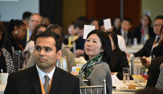 Attendees for the 2016 Diversity Leadership Forum listen to insights on the importance and power of a diverse workforce. (Ed Haas/Asia Society)