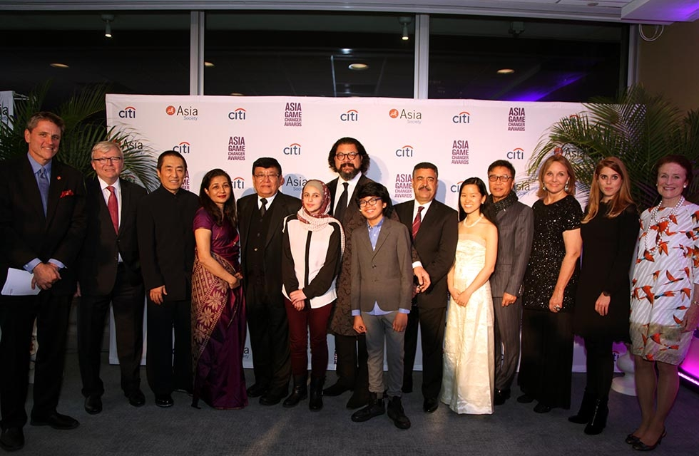 Awardees at the Asia Society Asia Game Changers awards at the United Nations in New York on October 27, 2016. (Ellen Wallop/Asia Society)