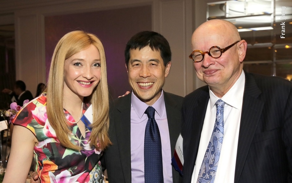Katy Gabel (left); ASNC Advisory Board Member, Michael Chui (middle); and ASNC Advisory Board Co-Chairman, Kenneth P. Wilcox (Frank Jang Asia Society)