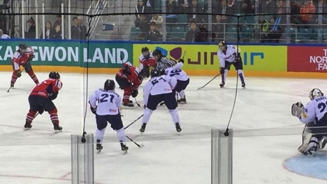 North and South Korea face-off on the ice