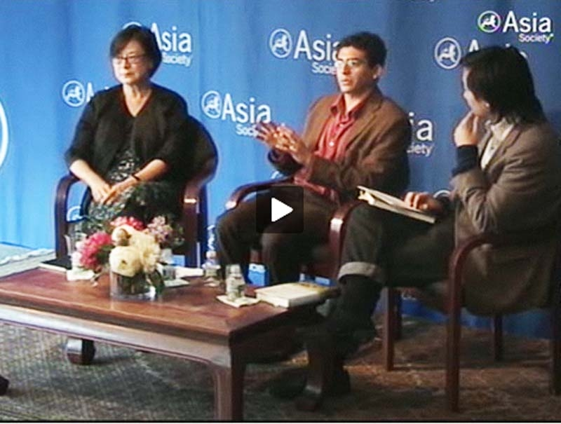 L to R: Authors Mae Ngai and Aziz Rana speak with Ken Chen at Asia Society New York on October 7, 2010.