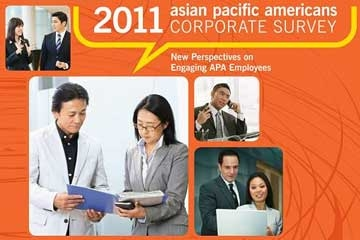 Detail from the cover of Asia Society's 2011 Asian Pacific Americans Corporate Survey.