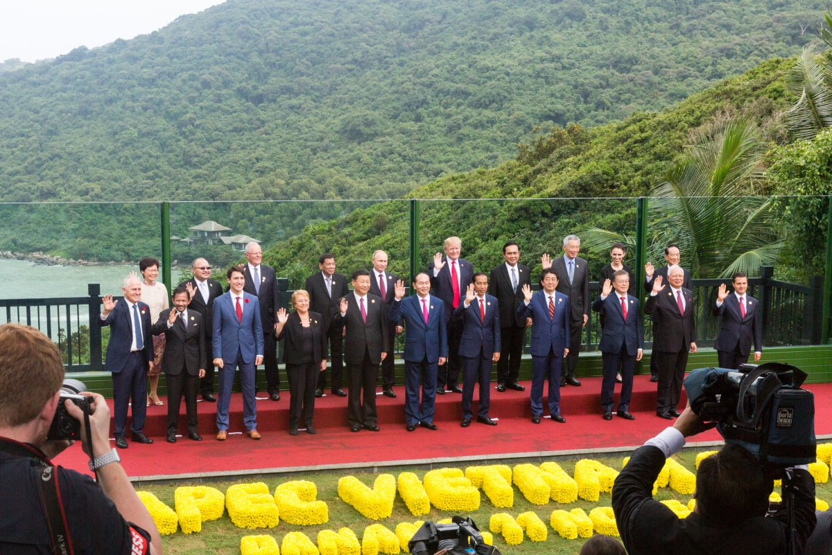 World leaders at the Asia-Pacific Economic Cooperation Summit in Da Nang, Vietnam