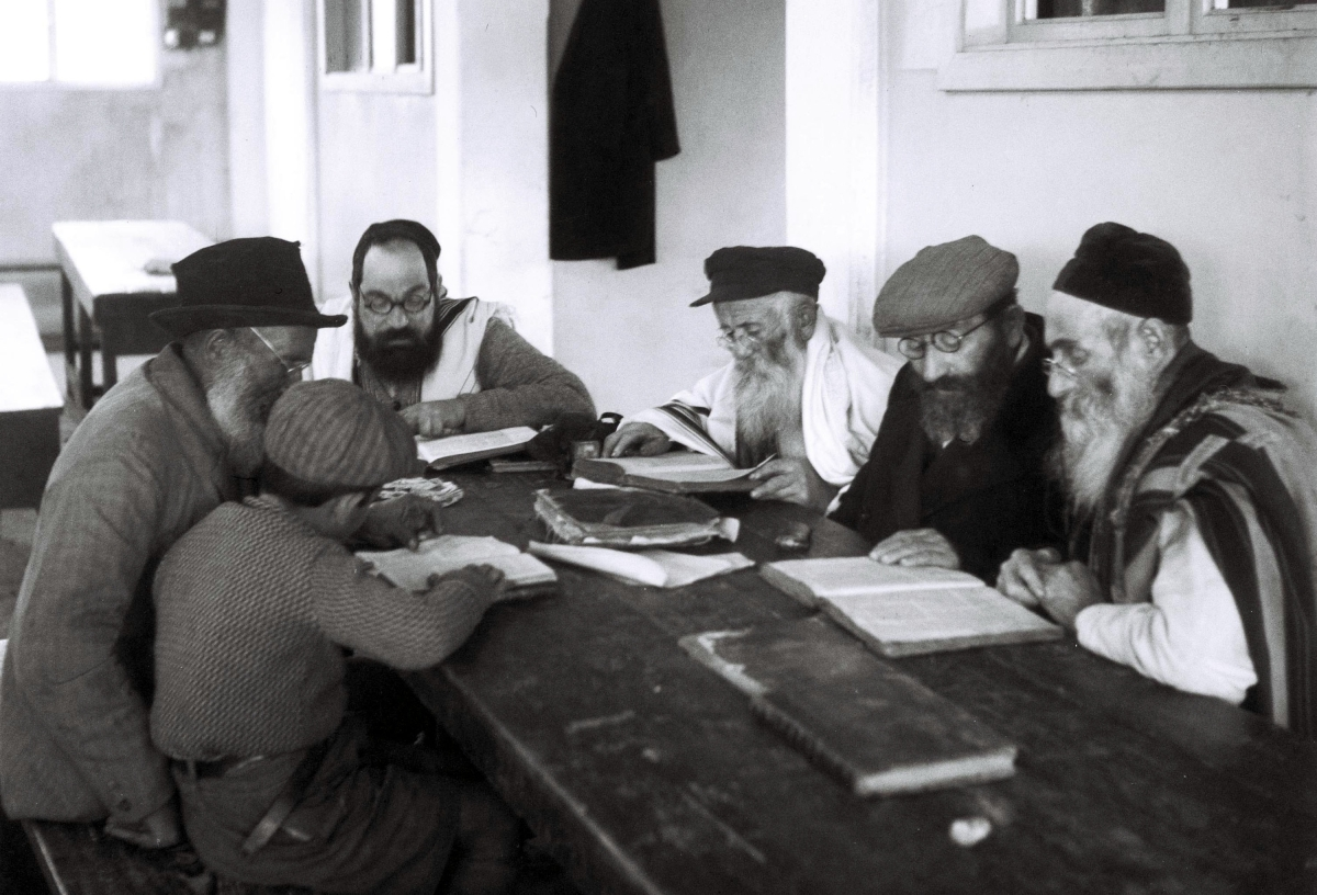 Talmud study. (Zoltan Kluger/GPO/Getty Images)