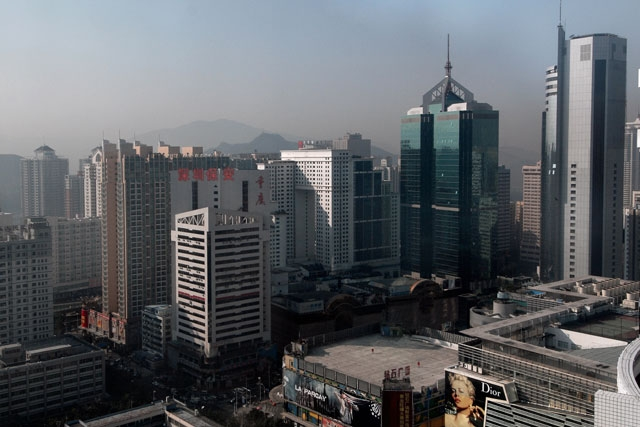 A view the city's skyline in Shenzhen, January, 31 2007. (Philippe Lopez/AFP/Getty Images)