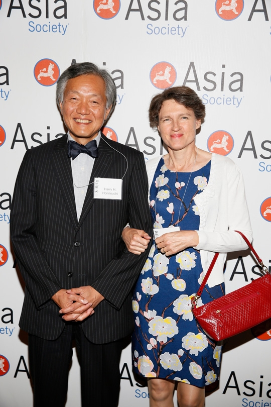 From left, Harry H. Horinouchi, Consul General of Japan in Los Angeles and wife Sabine Horinouchi pose during the 2015 Asia Society Southern California Annual Gala on Thursday, June 20, 2015, in Century City, Calif. (Photo by Ryan Miller/Capture Imaging)