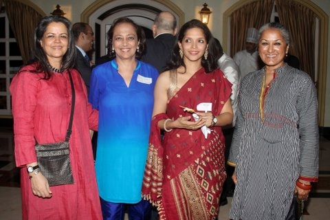 Anuradha Parekh, Managing Trustee, Mohile Paqrikh Centre for the Performing Arts; Bunty Chand, Executive Director, Asia Society India Centre; Swati Apte, Founder, India Schoolhouse Fund and a friend