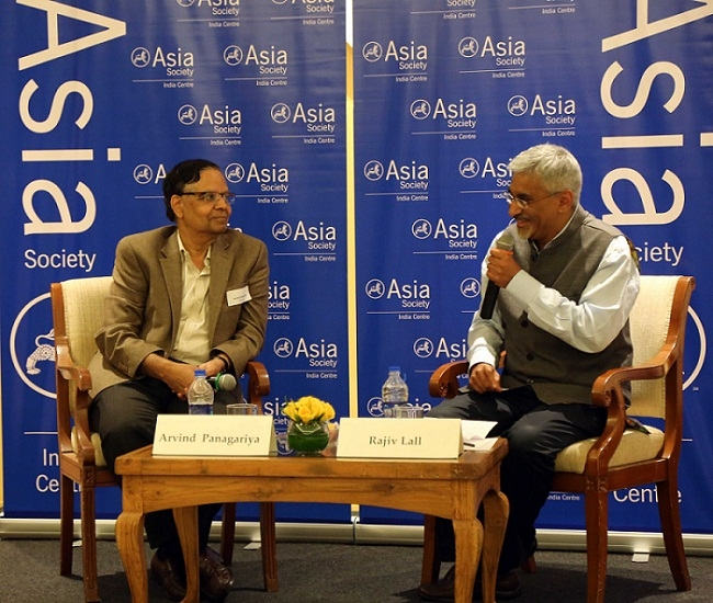 L to R: Arvind Panagariya and Rajiv Lall