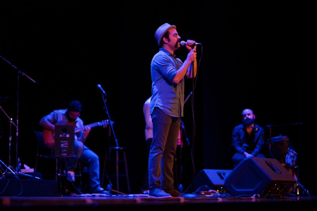September 25 - Fusion Iranian band Pallett presented their fun and dynamic blend of classical Persian music and European folk elements. (Jeff Fantich)