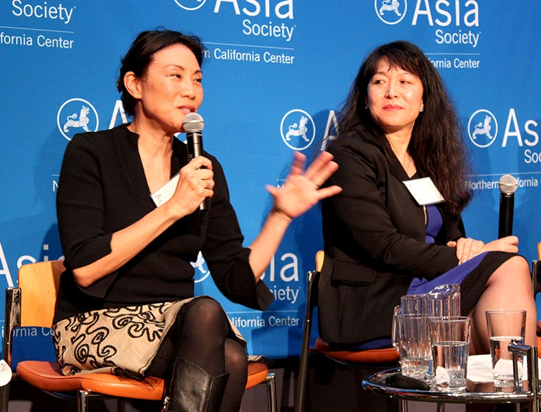 "ASNC's Asian America Now program series in February featured film producer Janet Yang of Janet Yang Productions, Anna Mok of Deloitte & Touche, and others to explore the ""bamboo ceiling"" in the workplace. (Asia Society)"