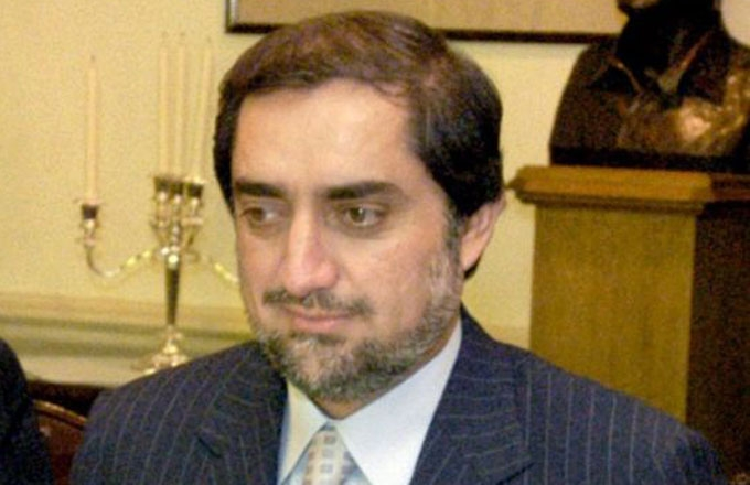 Former Afghan Foreign Minister Dr. Abdullah Abdullah.