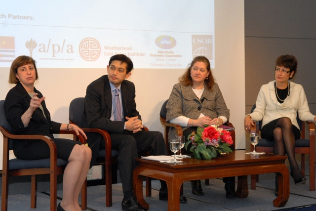 L to R: Monica Whaley, Mitchell Lee, Wendy Cutler, Patricia Haslach. (Elsa Ruiz/Asia Society)