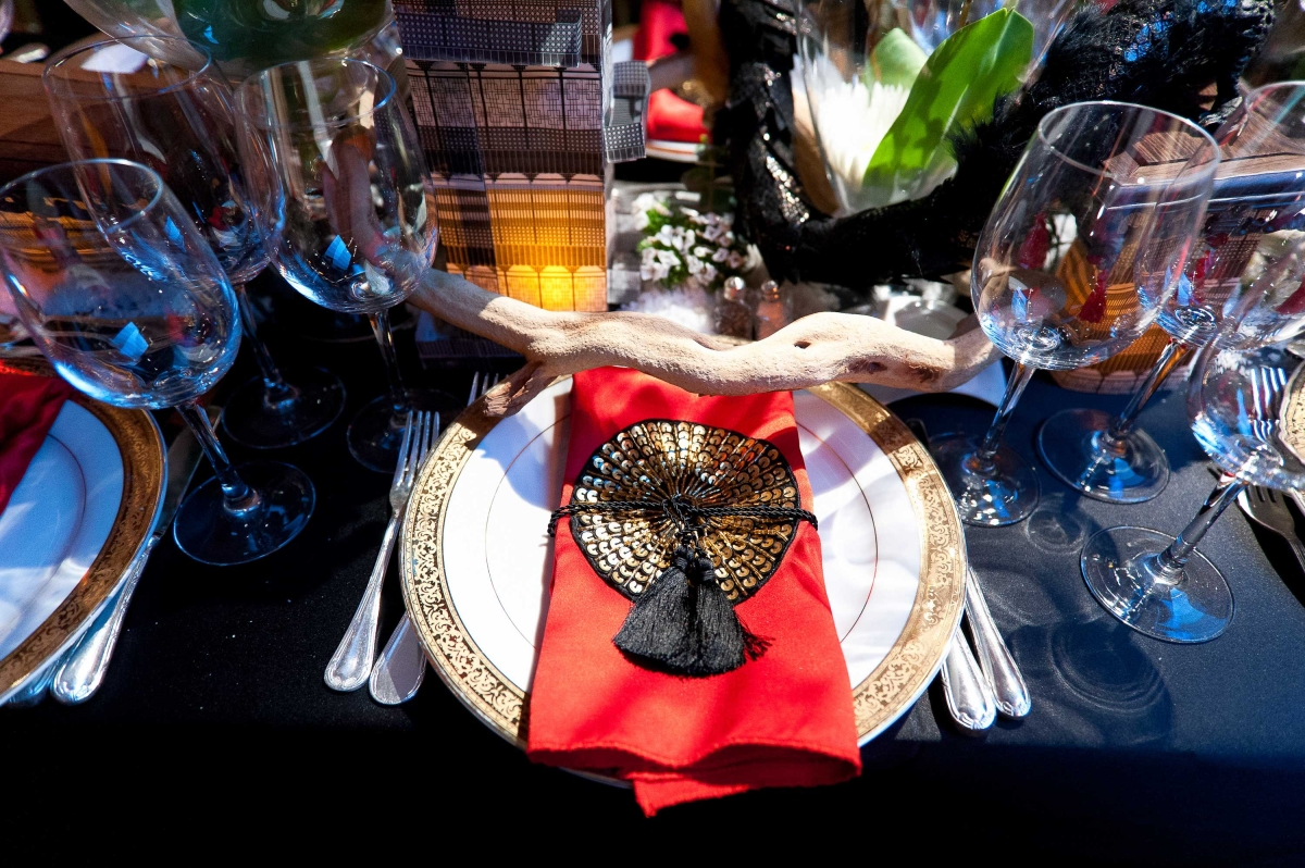 One highlight of the dinner was its unique table top décor customized by well-known designers. (Bennet Cobliner)