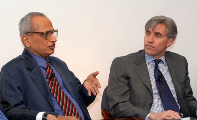 Left to right: V Raghuraman, Jon Anda (Elsa Ruiz/Asia Society)