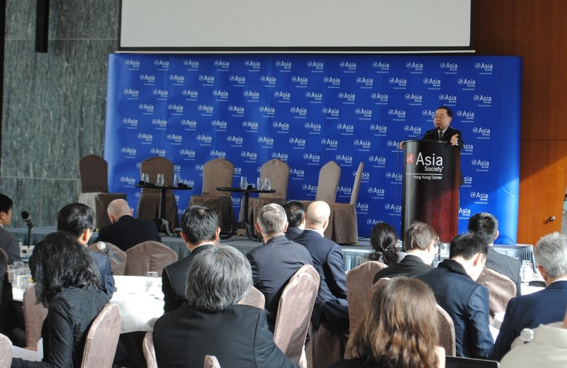 Ronnie Chan, Co-Chair of Asia Society's Board of Directors, welcomed participants to the Forum.