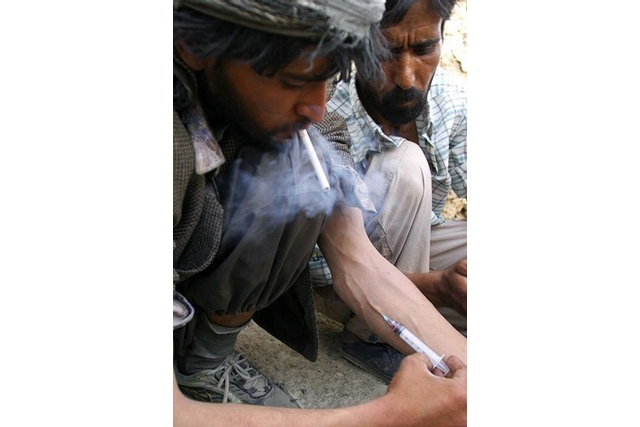 Heroin addict in Afghanistan