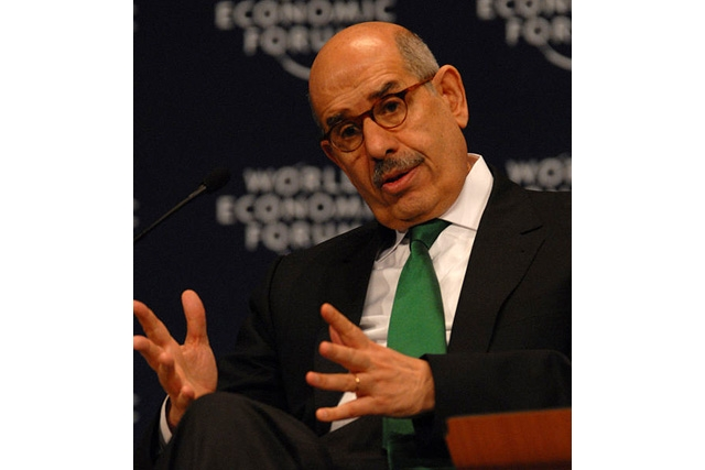 Mohammed ElBaradei, head of the International Atomic Energy Agency, at the Wolrd Economic Forum (Wolrd Economic Forum/flickr)